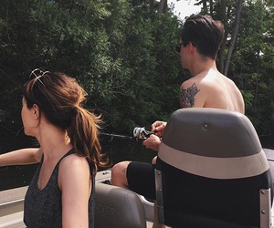 brendon urie, panic at the disco, and sarah urie image
