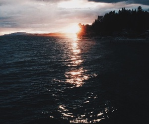 sunset, vibes, and ocean image