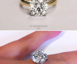 engagement ring, diamond, and ring image