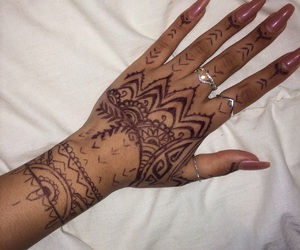 hand, henna, and nails image