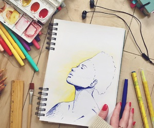 art, yellow, and colors image
