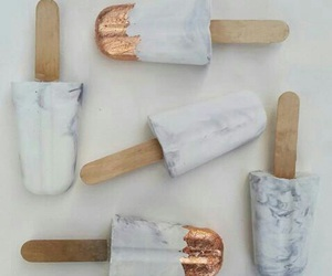 ice cream, gold, and marble image