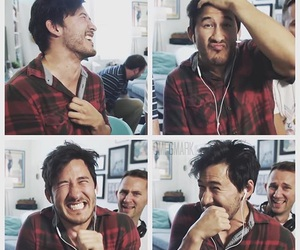 boy, mark, and markiplier image