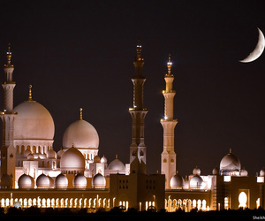 islam, moon, and mosque image