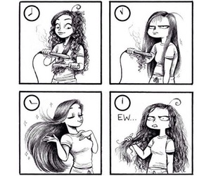 hair, funny, and drawing image