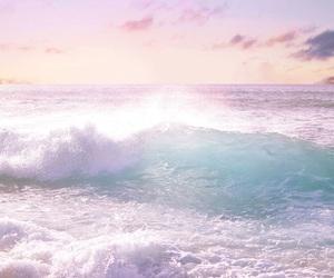 beach, ocean, and sea image