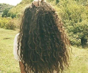 curly, hair, and long image