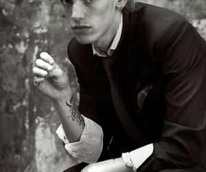 Jamie Campbell Bower, jamie, and black and white image