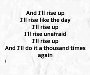 Lyrics, rise up, and favourite song image
