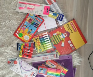 colour, school, and supplies image