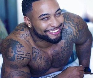 boy, smile, and tatouages image