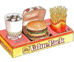 drawing, food, and hamburger image