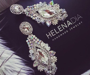 earrings, luxury, and diamond image