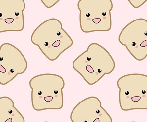 bread, chibi, and food image