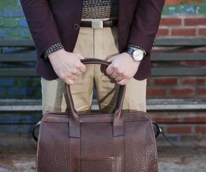 bag, belt, and blazer image