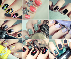 beauty, color, and nail art image