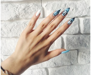 beautiful, blue, and hand image