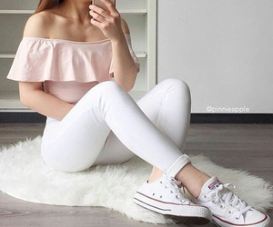 converse, pink, and summer image