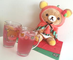 drink, kawaii, and rilakkuma image
