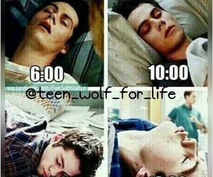teen wolf, dylan o'brien, and sleep image