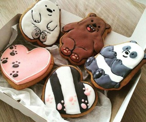 food, bear, and Cookies image