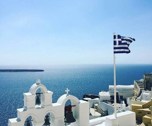 Greece, greek, and holiday image