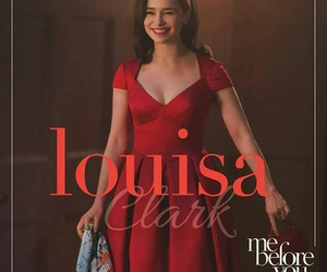 me before you, louisa clark, and emilia clarke image