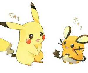 pikachu, pokemon, and dedenne image