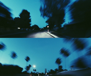 grunge, blue, and night image