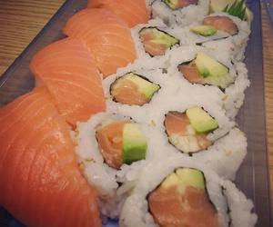 fish, food, and sushi image