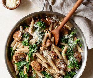 pasta and sausage image