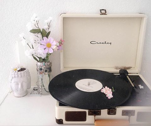 flowers, music, and vintage image