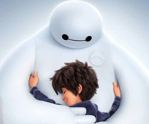baymax, big hero 6, and hiro image