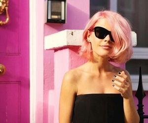 bob haircut, pastel, and pink image