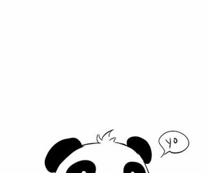 panda, cute, and yo image