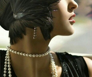 flapper, pearls, and black image