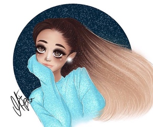 drawing, moonlight, and ariana grande image