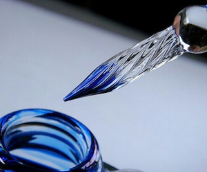 beautiful, blue, and glass image