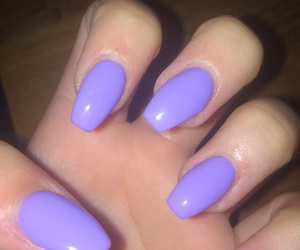 lilac, nails, and pastel image