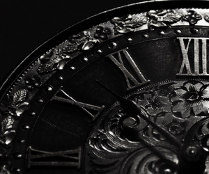 clock, Darkness, and watch image