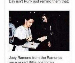 green day, billie joe armstrong, and joey ramone image