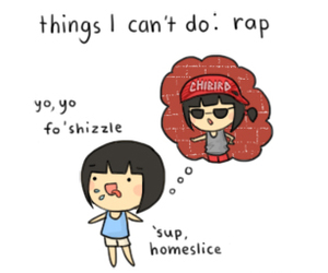 one thing, chibird, and rap lol funny image