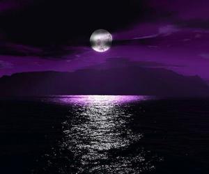 moon, purple, and night image