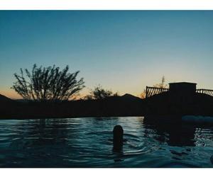 beautiful, selena gomez, and sunset image
