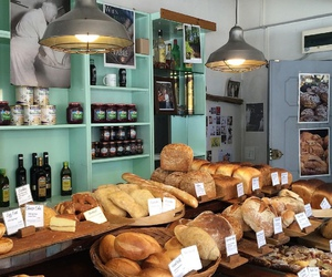 bakery, food, and rolls image