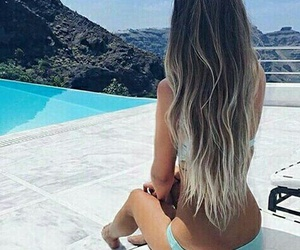 bikini, girl, and pool image