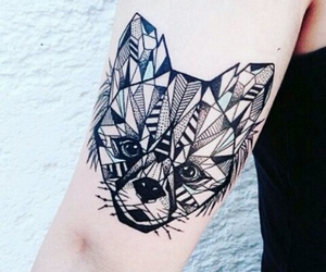 tattoo, fox, and animal image