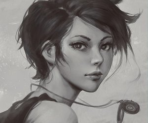 art, short hair, and guweiz image