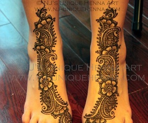 henna, tattoo, and henné image