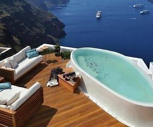 sea, luxury, and pool image